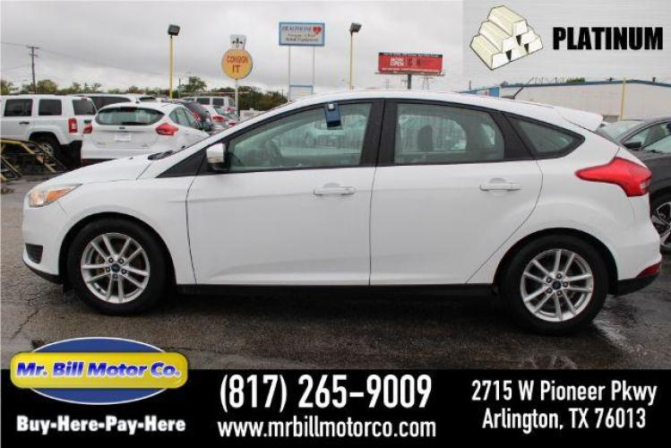 2016 WHITE Ford Focus SE Hatch (1FADP3K27GL) with an 2.0L L4 DOHC 16V engine, located at 2715 W Pioneer Pkwy, Arlington, TX, 76013, (817) 265-9009, 32.710262, -97.153236 - Photo #0