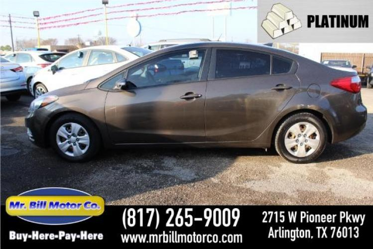 2015 BROWN Kia Forte EX (KNAFX4A62F5) with an 1.8L L4 DOHC 16V engine, 6-Speed Automatic transmission, located at 2715 W Pioneer Pkwy, Arlington, TX, 76013, (817) 265-9009, 32.710262, -97.153236 - Photo #0