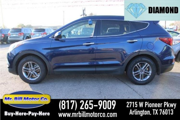 2017 BLUE Hyundai Santa Fe Sport 2.4 FWD (5XYZU3LB5HG) with an 2.4L L4 DOHC 16V engine, 6-Speed Automatic transmission, located at 2715 W Pioneer Pkwy, Arlington, TX, 76013, (817) 265-9009, 32.710262, -97.153236 - Photo #0