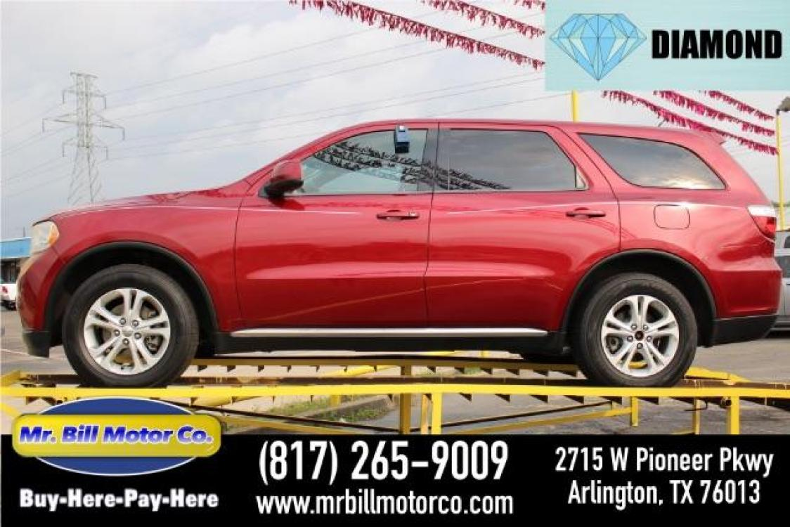 2013 Red Dodge Durango SXT RWD (1C4RDHAG3DC) with an 3.6L V6 DOHC 24V engine, 5-Speed Automatic transmission, located at 2715 W Pioneer Pkwy, Arlington, TX, 76013, (817) 265-9009, 32.710262, -97.153236 - Photo #0