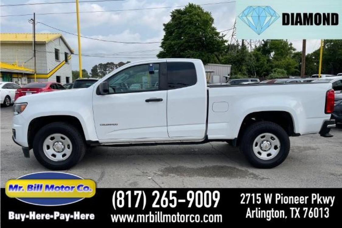 2016 White Chevrolet Colorado Work Truck Ext. Cab 2WD (1GCHSBEA2G1) with an 2.5L L4 DOHC 16V GAS engine, 6-Speed Automatic transmission, located at 2715 W Pioneer Pkwy, Arlington, TX, 76013, (817) 265-9009, 32.710262, -97.153236 - Photo #0